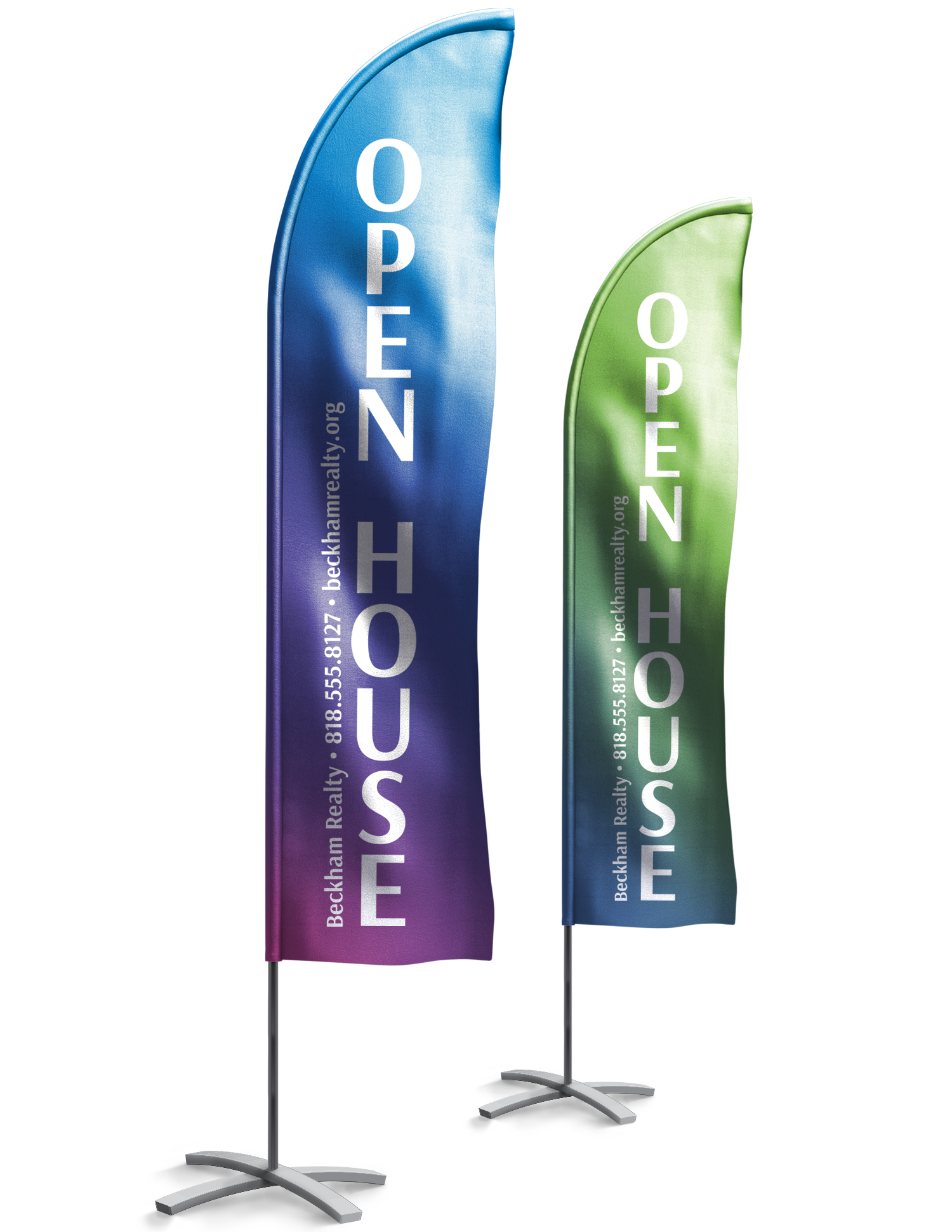 Feather Flags printed in Lancaster, Palmdale - JR'S Handling print and mail services